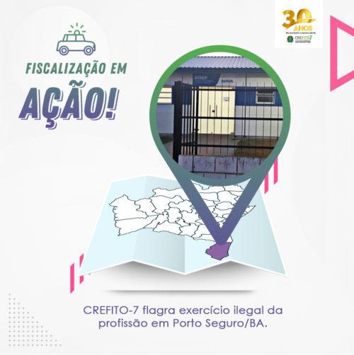 CREFITO-7 flagra exercício ilegal da profissão em Porto Seguro/BA