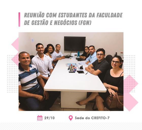 Reunião com estudantes da Faculdade de Gestão e Negócios (FGN)