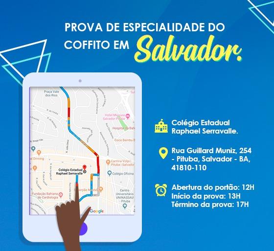 Prova de Especialidade do Coffito em Salvador