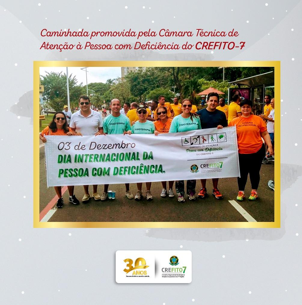 CREFITO-7 promove caminhada em comemoração ao Dia Internacional da Pessoa com Deficiência