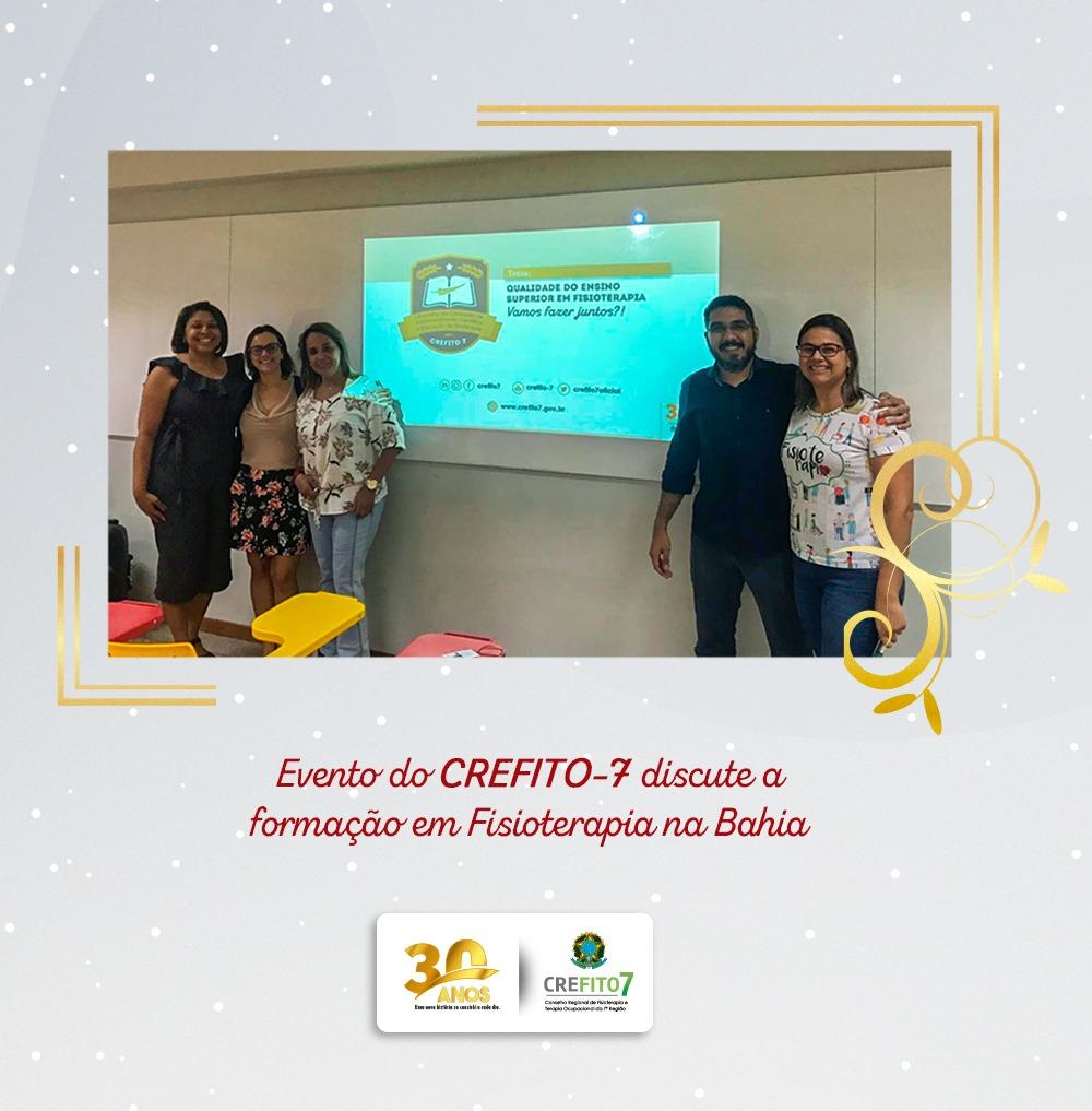 Evento do CREFITO-7 discute a formação em Fisioterapia na Bahia