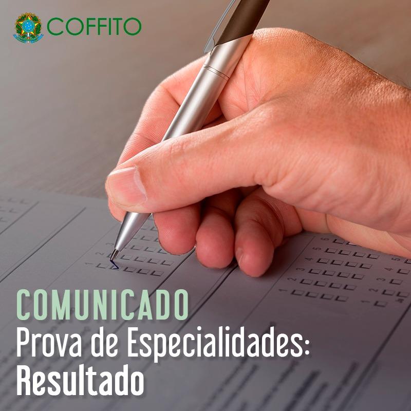 Resultado da Prova Objetiva do Exame Nacional para Concessão do Título de Especialista Profissional