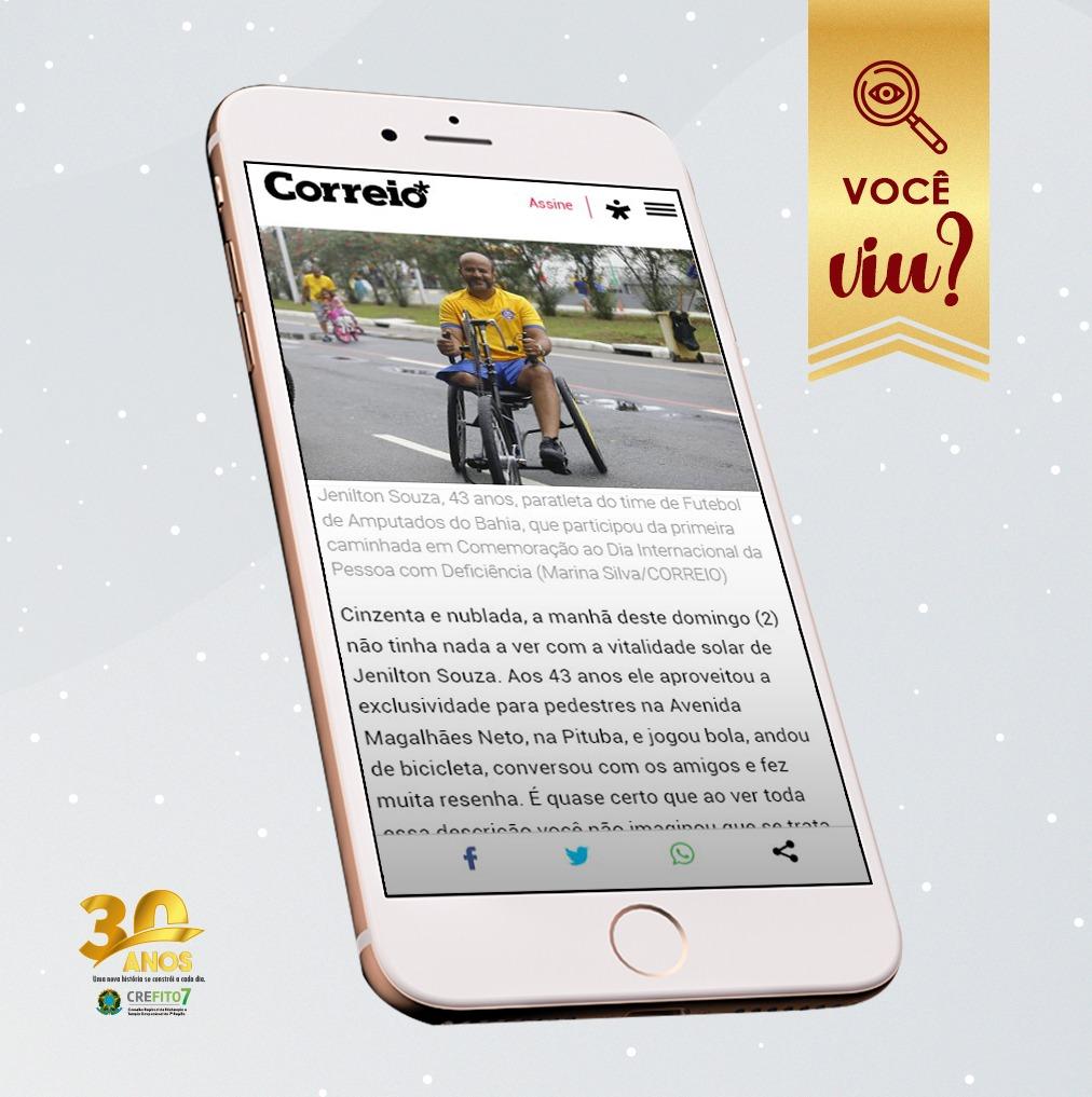Correio publica matéria sobre a caminhada promovida pelo CREFITO-7