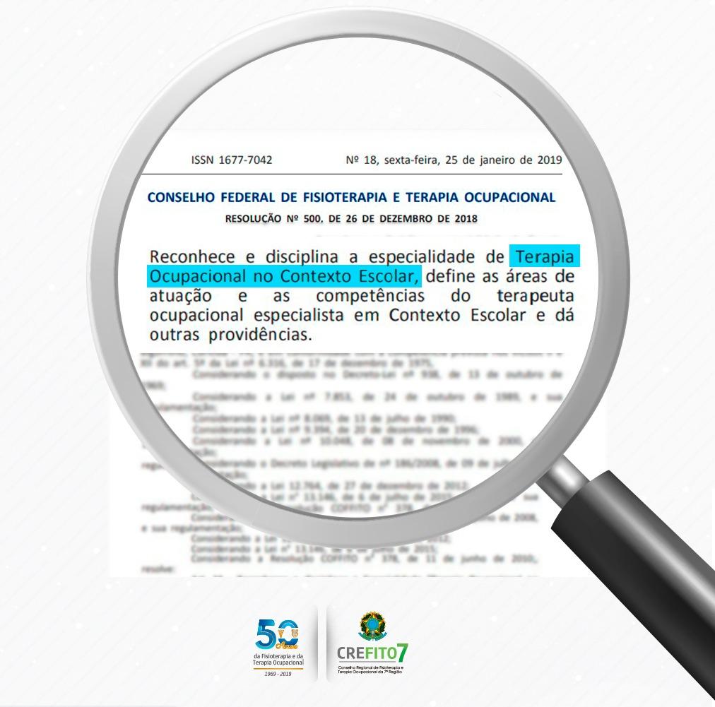 COFFITO reconhece e disciplina a especialidade de Terapia Ocupacional no Contexto Escolar