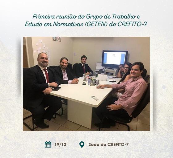 Primeira reunião do Grupo de Trabalho e Estudo em Normativas (GTEN) do CREFITO-7