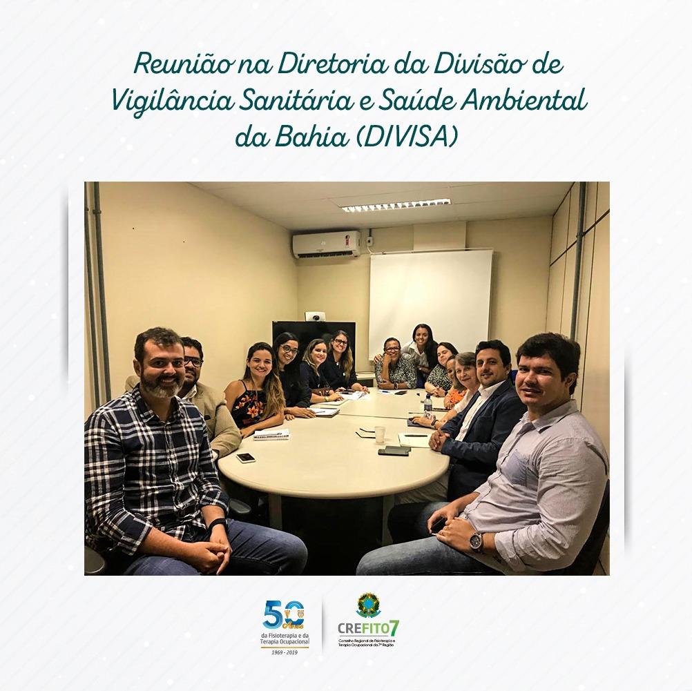 Reunião na Diretoria da Divisão de Vigilância Sanitária e Saúde Ambiental (DIVISA)