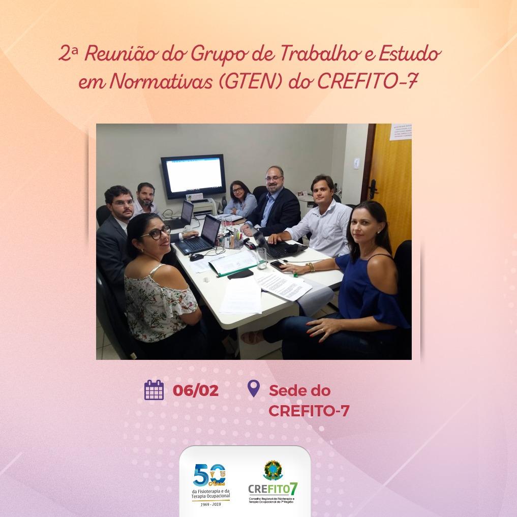 2ª Reunião do Grupo de Trabalho e Estudo em Normativas do CREFITO-7