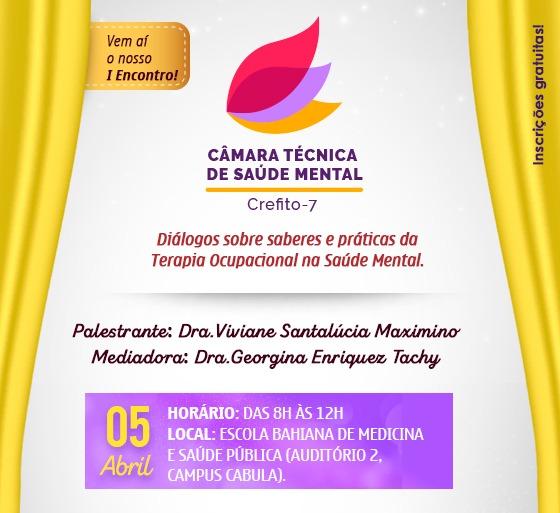 I Encontro da Câmara Técnica de Saúde Mental do CREFITO-7