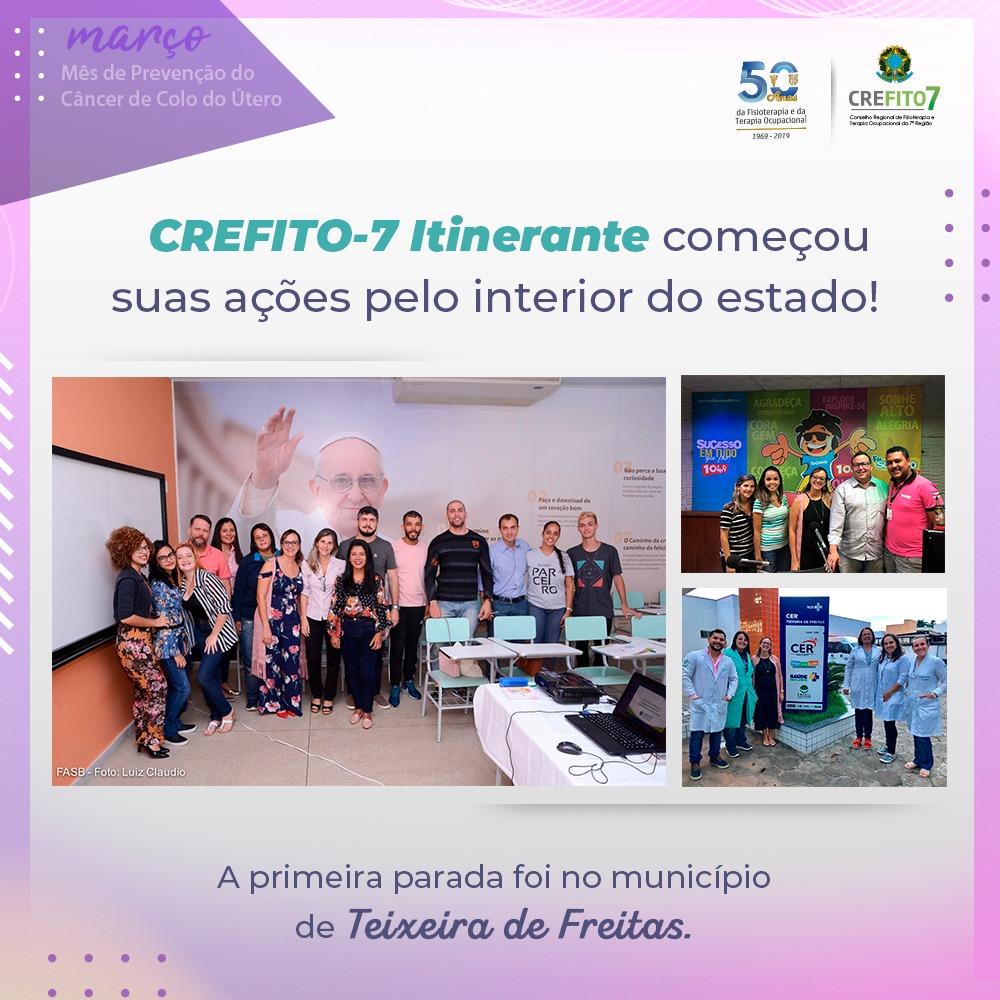 CREFITO-7 Itinerante começou suas ações pelo interior do estado