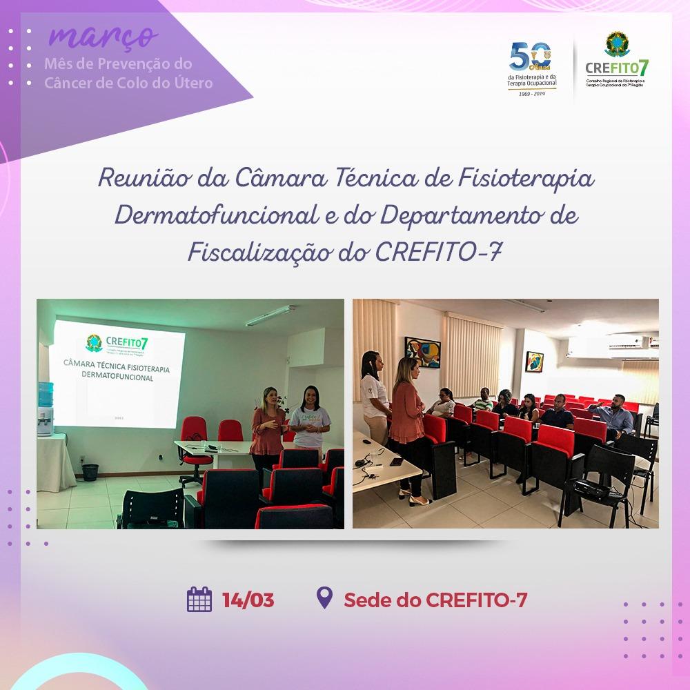 Reunião entre a Câmara Técnica de Fisioterapia Dermatofuncional e o Departamento de Fiscalização do CREFITO-7