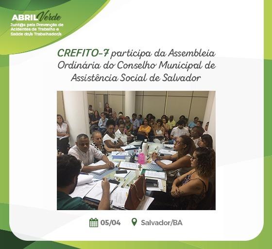 Assembleia Ordinária do Conselho Municipal de Assistência Social de Salvador (CMASS)