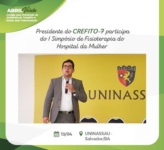CREFITO-7 participa do I Simpósio de Fisioterapia do Hospital da Mulher