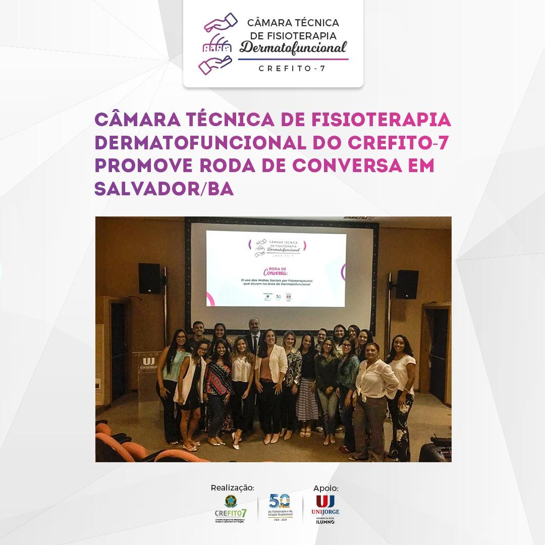Câmara Técnica de Fisioterapia Dermatofuncional promove Roda de Conversa em Salvador/BA