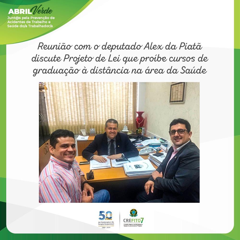 Reunião com o deputado estadual Alex da Piatã