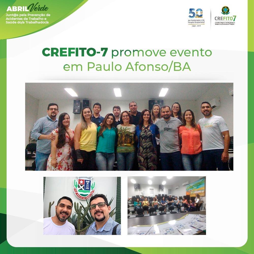 CREFITO-7 promove evento em Paulo Afonso/BA