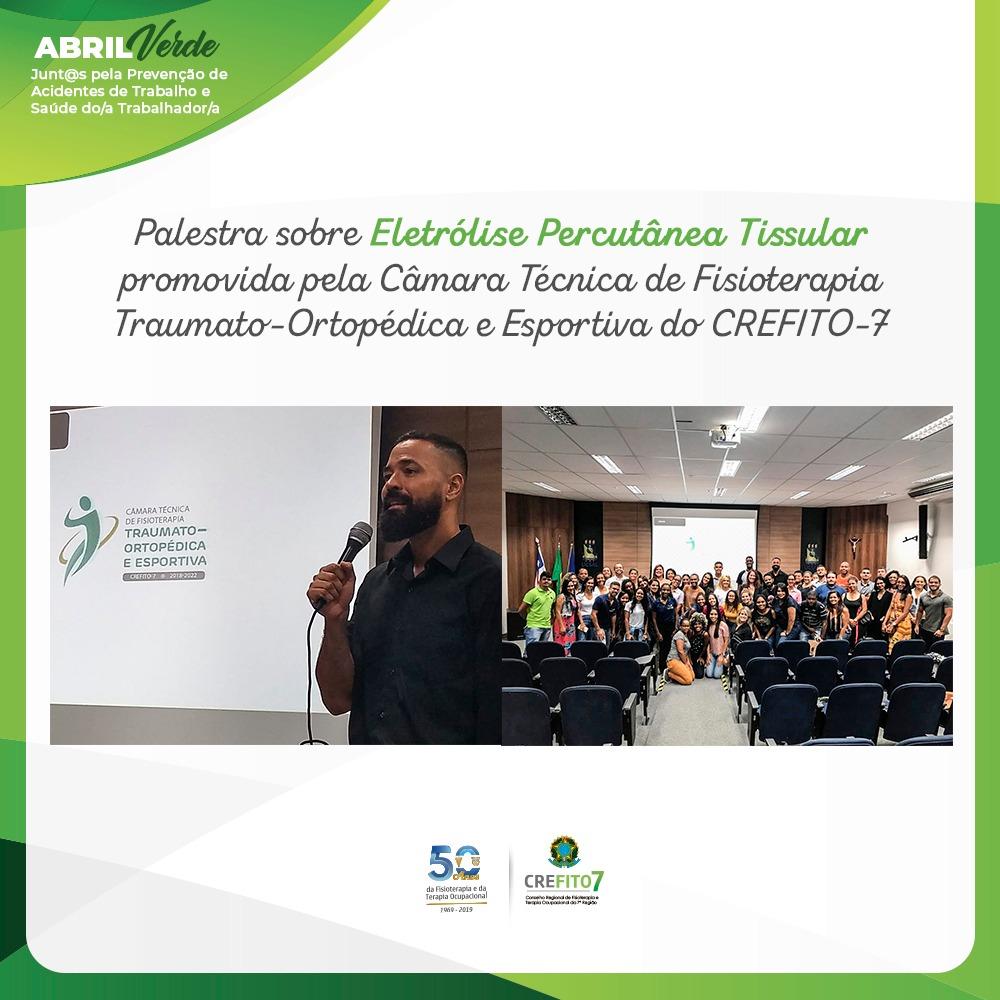 CT de Fisioterapia Traumato-Ortopédica e Esportiva do CREFITO-7 promove palestra em Salvador/BA