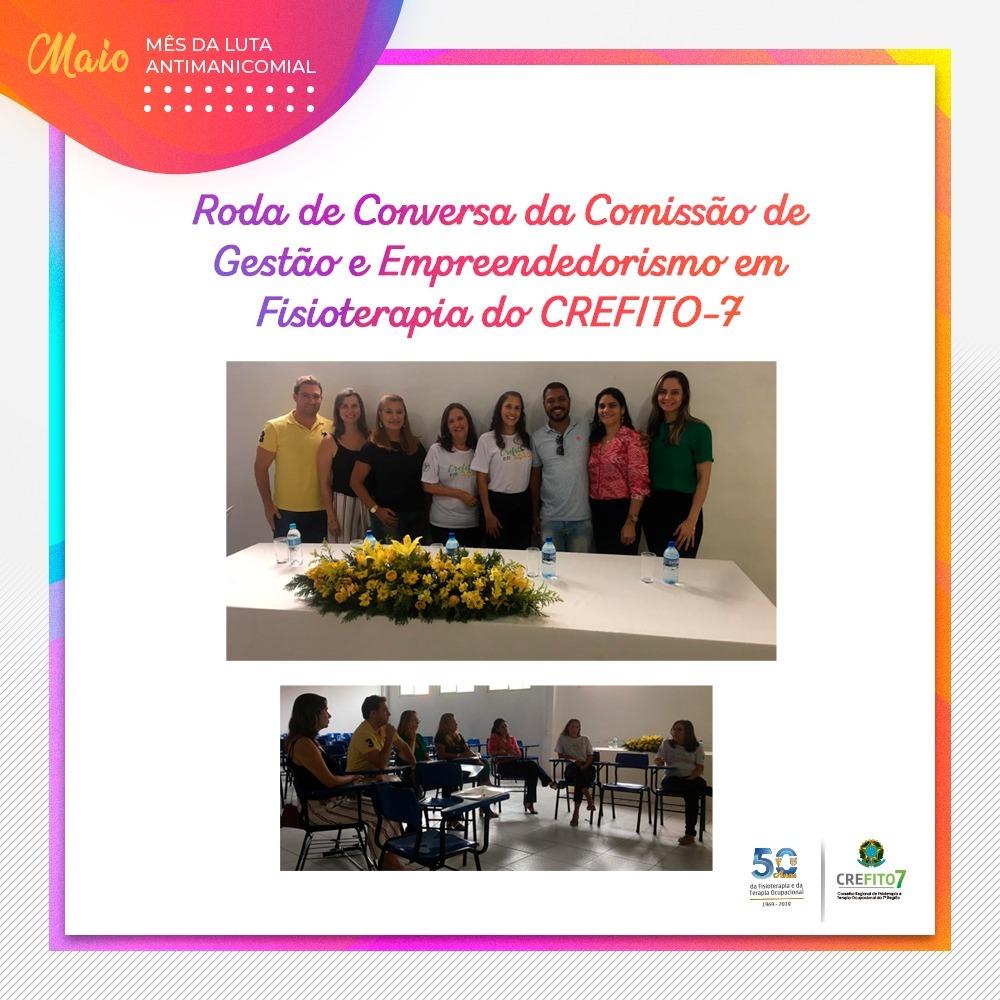 Roda de Conversa da Comissão de Gestão e Empreendedorismo em Fisioterapia do CREFITO-7