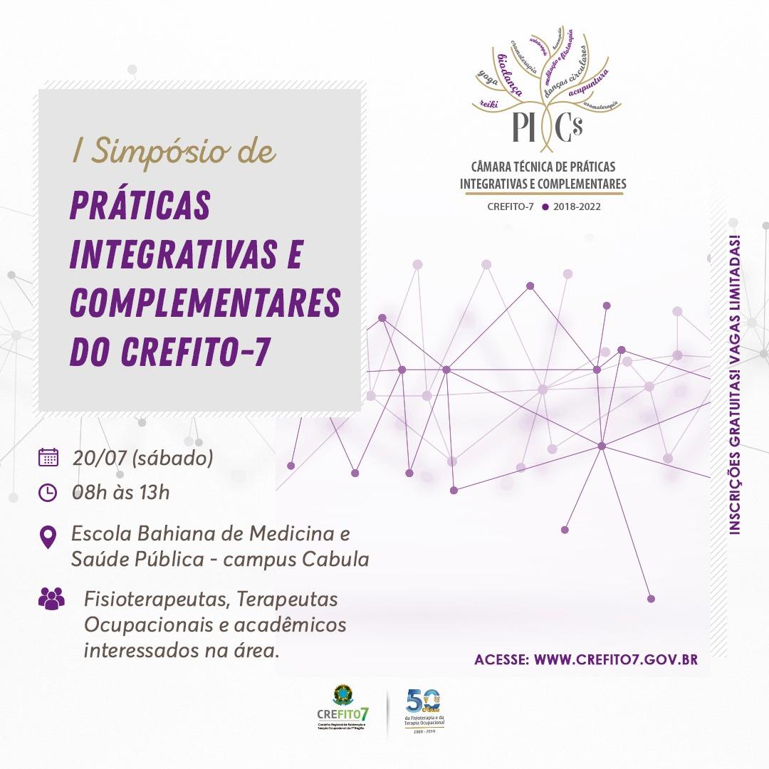 I Simpósio de Práticas Integrativas e Complementares do CREFITO-7