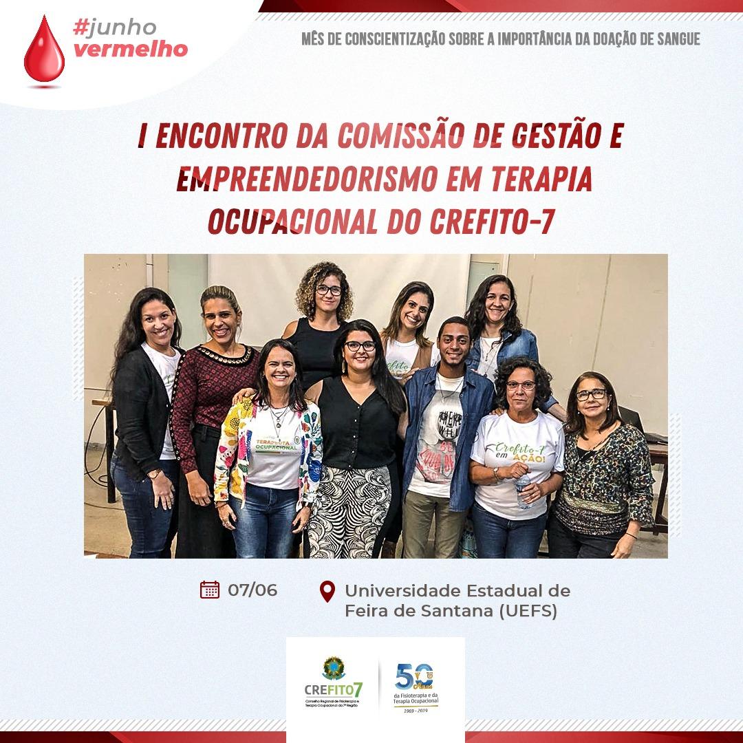 I Encontro da Comissão de Gestão e Empreendedorismo em Terapia Ocupacional do CREFITO-7