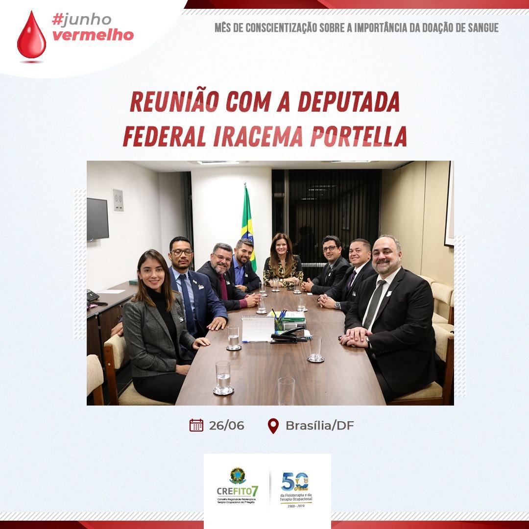 Reunião com a deputada federal Iracema Portella