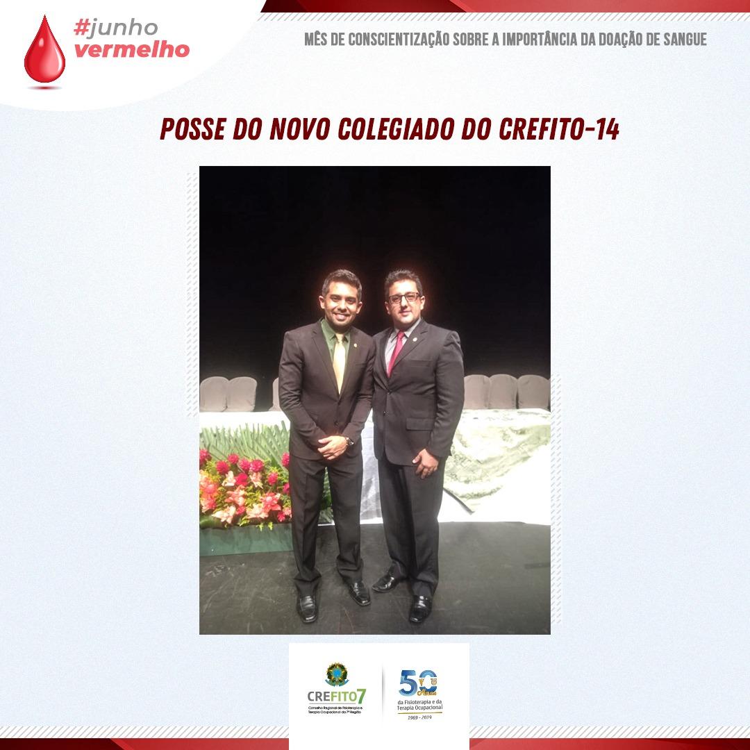 CREFITO-7 participa da cerimônia de posse do novo colegiado do CREFITO-14