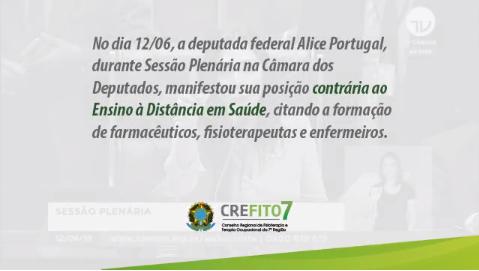 Deputada Alice Portugal manifesta-se contra o Ensino à Distância em Saúde