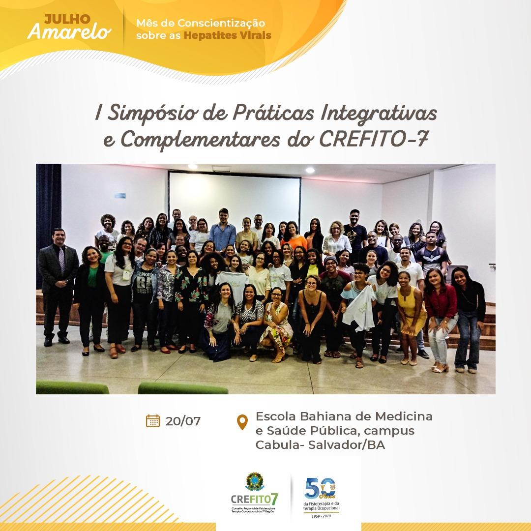 I Simpósio de Práticas Integrativas e Complementares do CREFITO-7 acontece em Salvador!