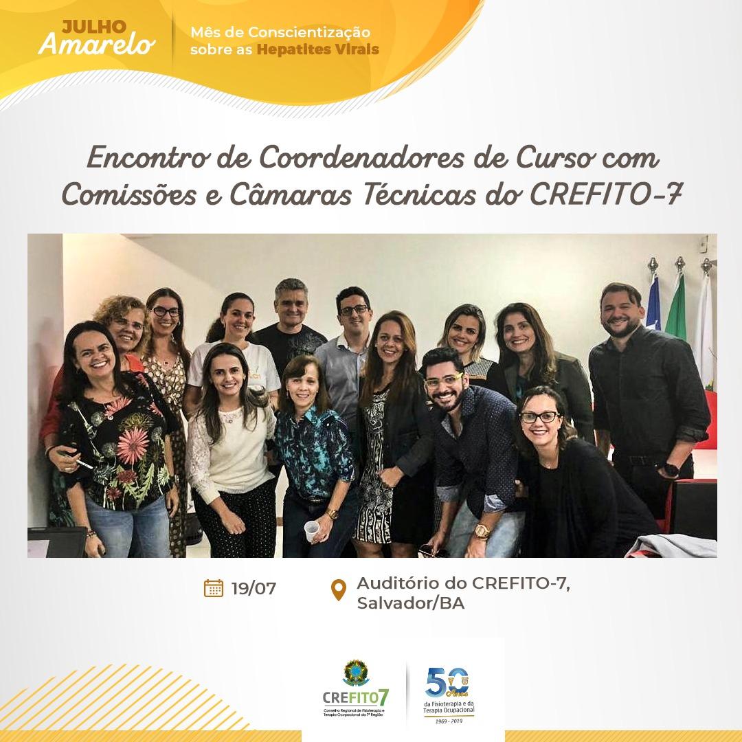 Encontro de Coordenadores de Curso com Comissões e Câmaras Técnicas do CREFITO-7