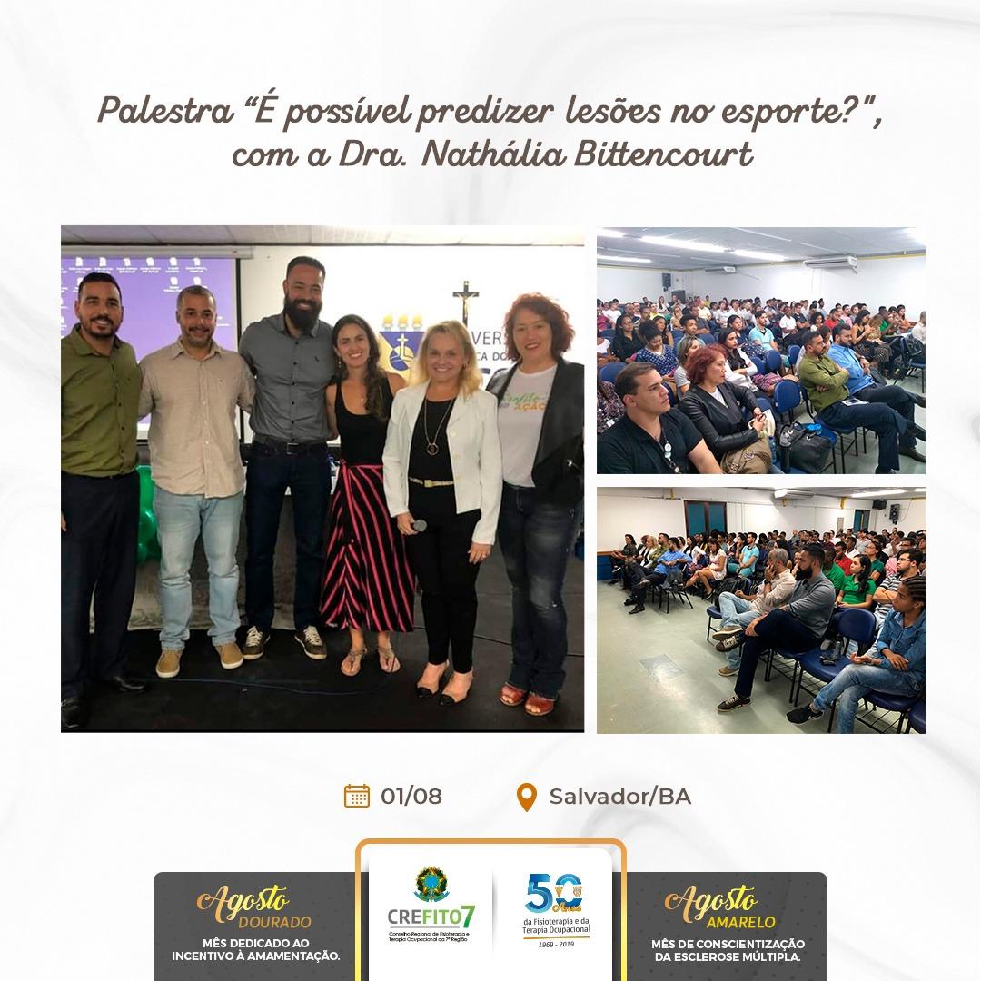 Câmara Técnica de Fisioterapia Traumato-Ortopédica e Esportiva do CREFITO-7 promove palestra na UCSAL
