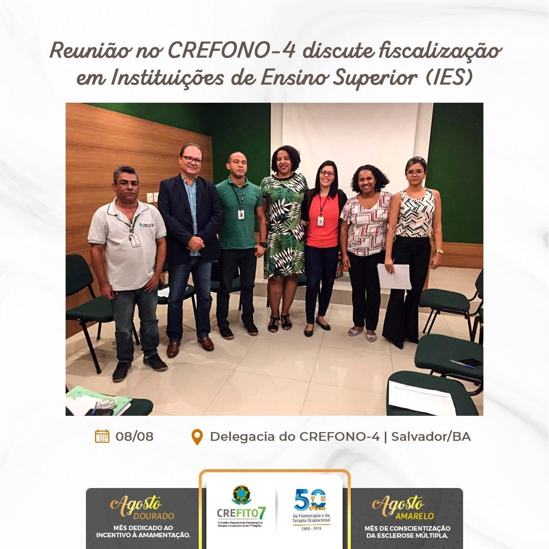 Reunião no CREFONO-4 discute fiscalização em Instituições de Ensino Superior