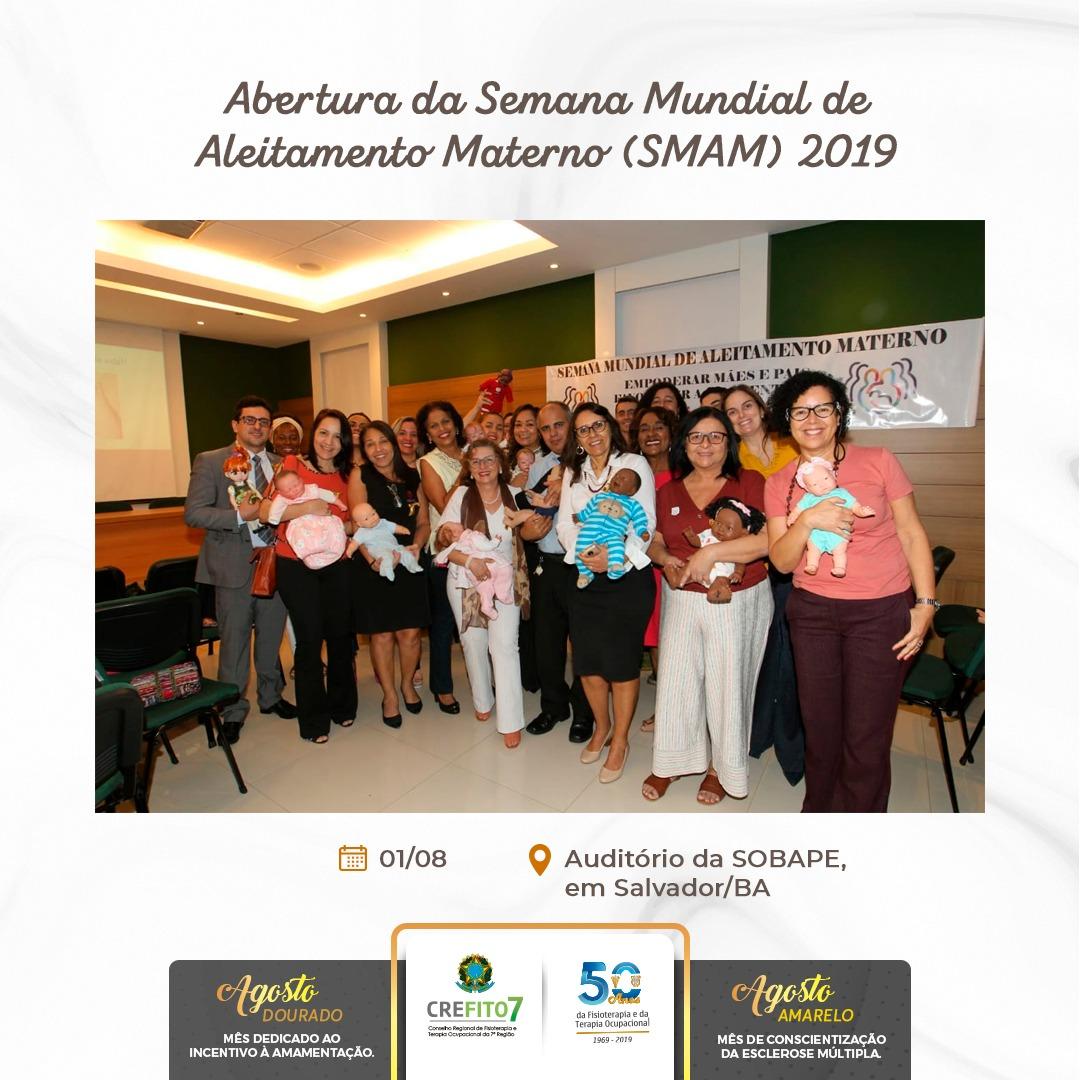 CREFITO-7 participa do evento de abertura da Semana Mundial de Aleitamento Materno (SMAM) 2019 em