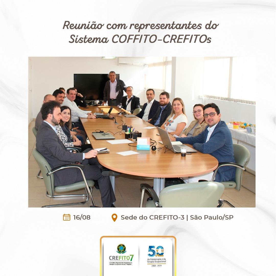 CREFITO-7 participa de reunião para discutir a campanha nacional de valorização profissional