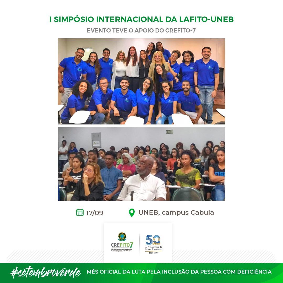 I Simpósio Internacional da Liga Acadêmica de Fisioterapia Traumato-Ortopédica da Universidade do Estado da Bahia (LAFITO-UNEB)