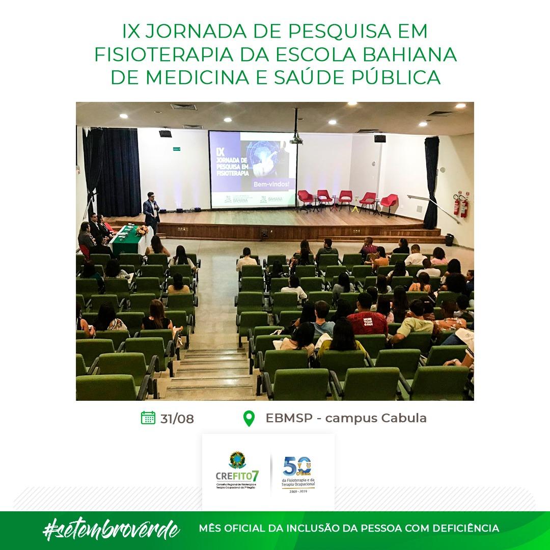 IX Jornada de Pesquisa em Fisioterapia da Escola Bahiana de Medicina e Saúde Pública