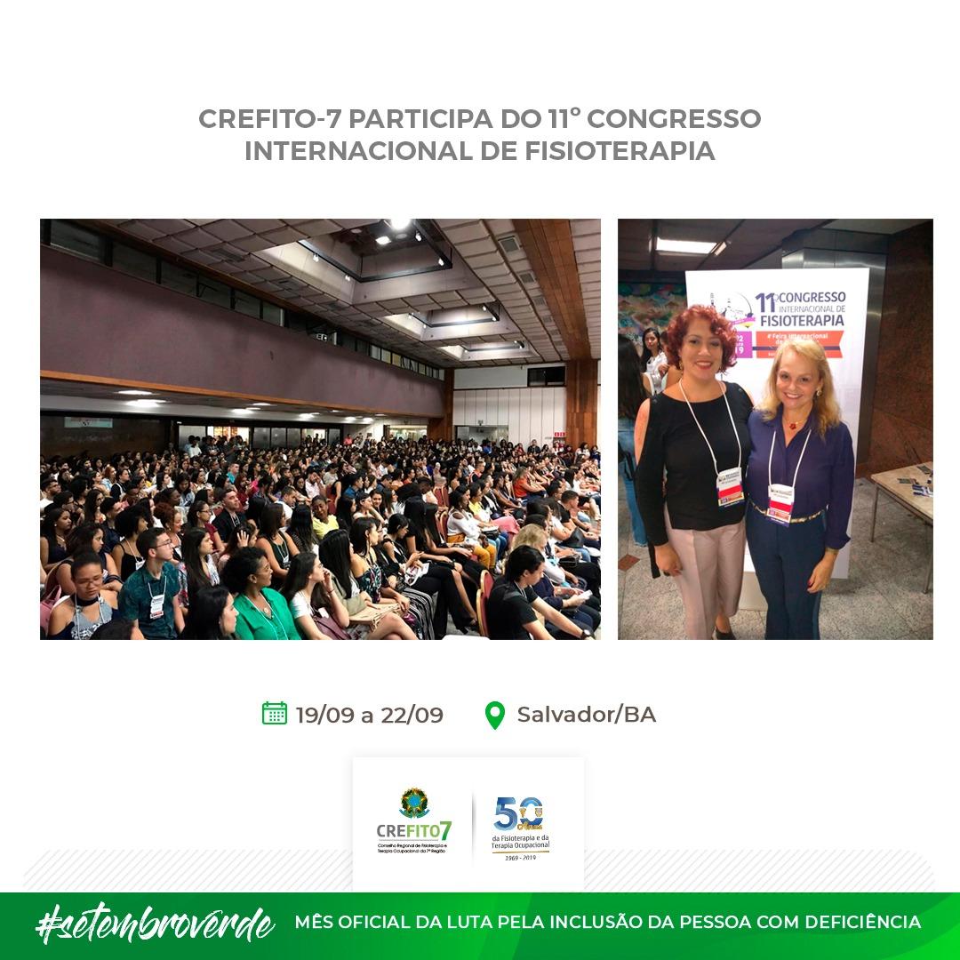 Colaboradoras do CREFITO-7 participam do 11º Congresso Internacional de Fisioterapia