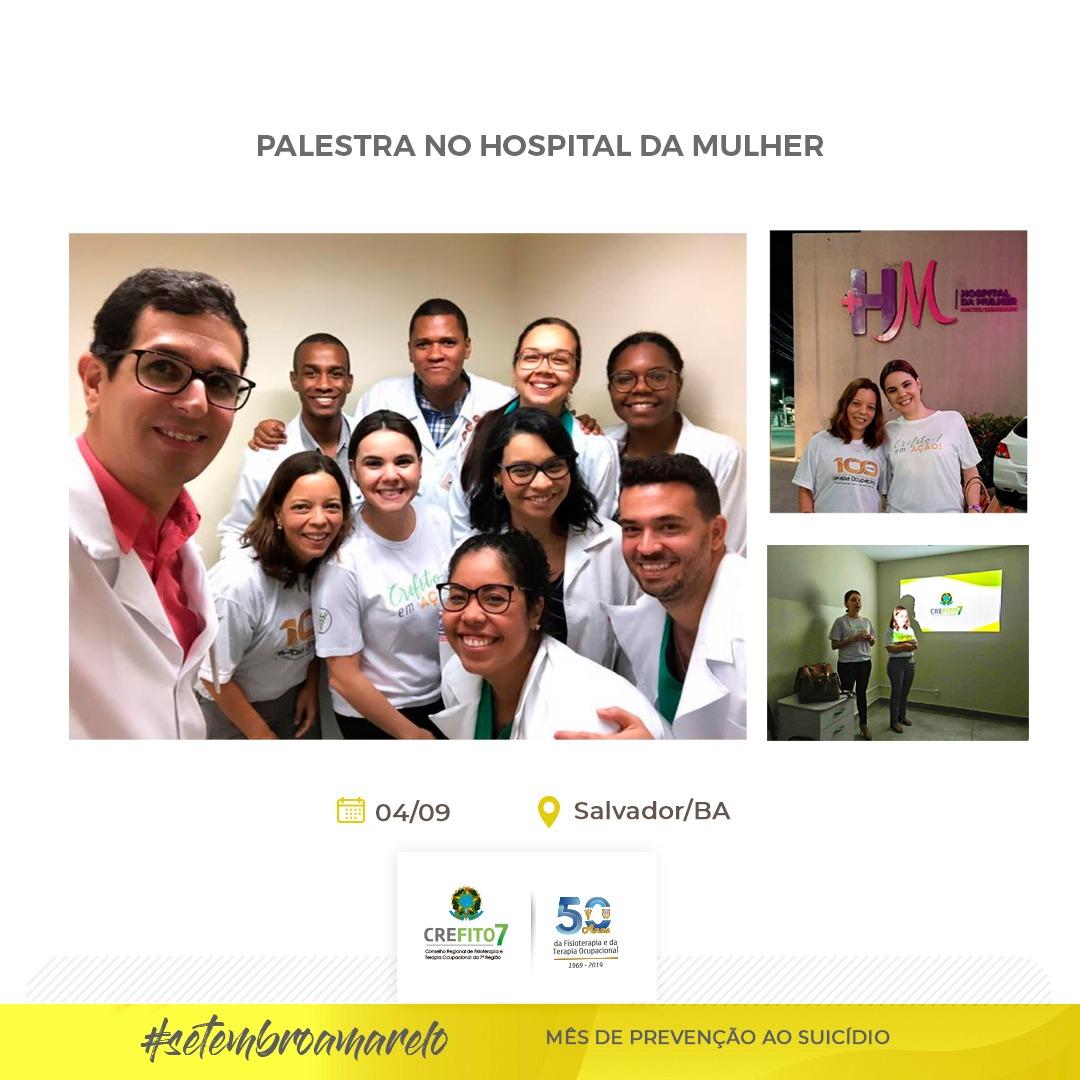 Representantes da CT de Oncologia e Cuidados Paliativos do CREFITO-7 ministram palestra no Hospital da Mulher