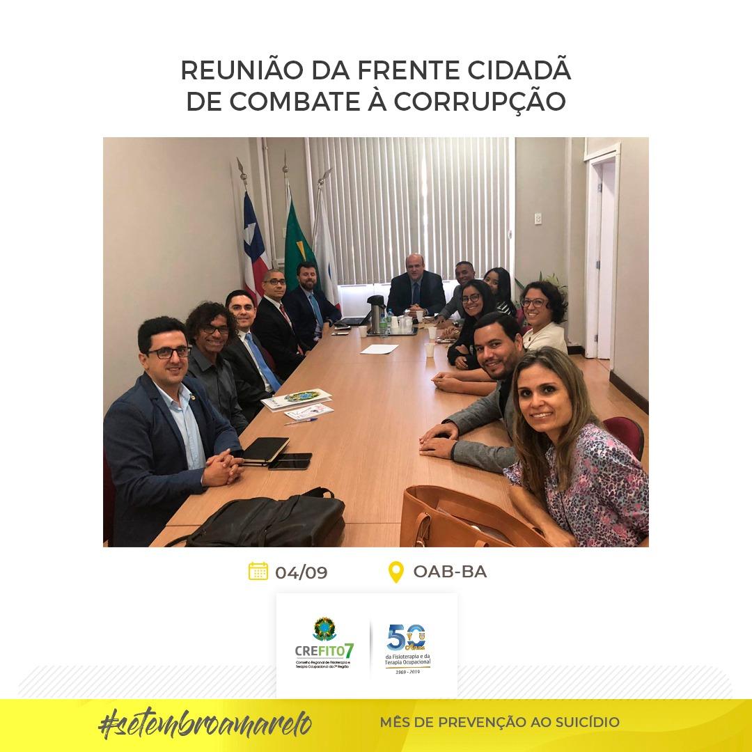Presidente do CREFITO-7 participa de reunião na OAB-BA