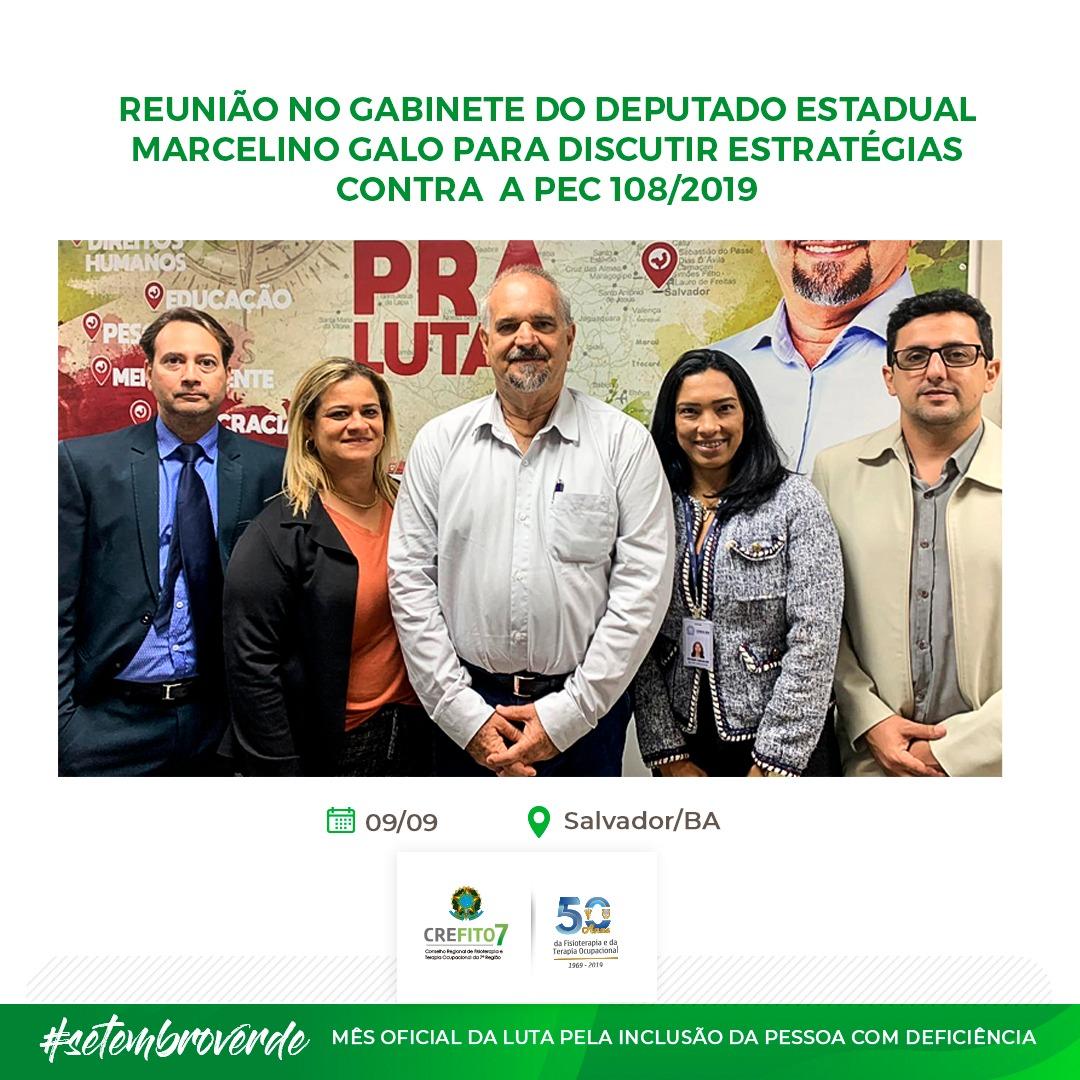 Reunião no gabinete do deputado estadual Marcelino Galo