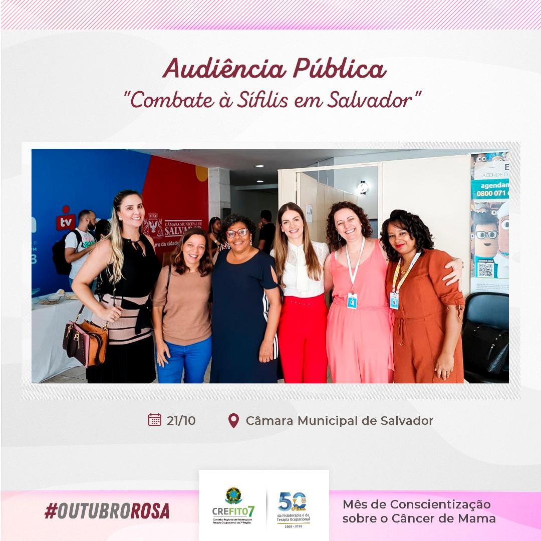 CREFITO-7 participa de audiência pública na Câmara Municipal de Salvador