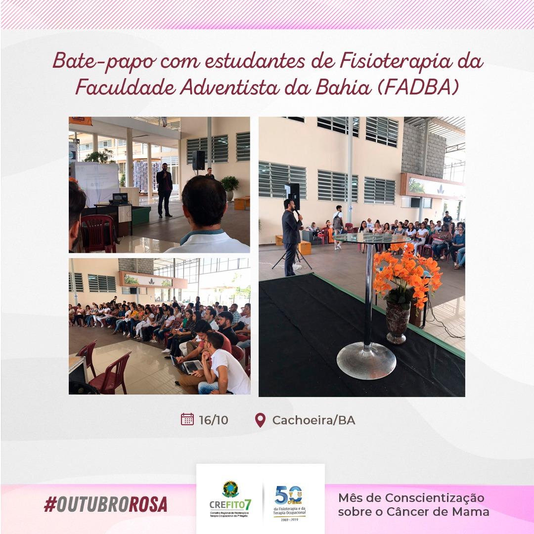 Bate-papo com estudantes da Faculdade Adventista da Bahia (FADBA)