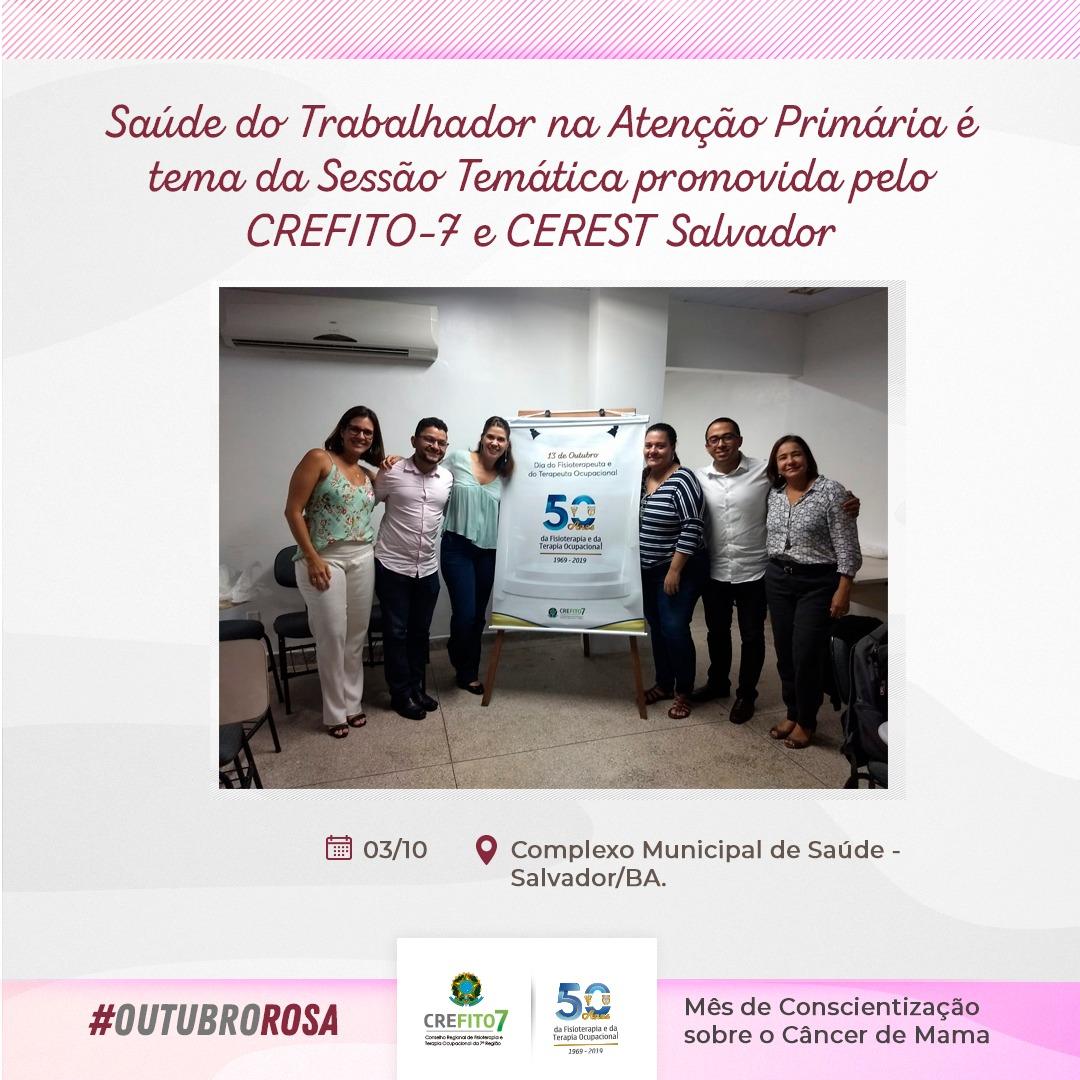 CREFITO-7 e CEREST promovem evento em Salvador/BA
