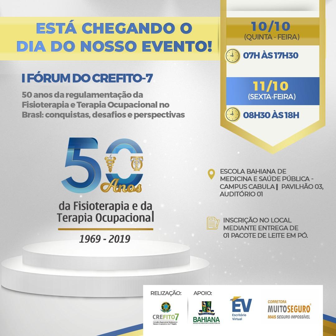 50 anos da regulamentação da Fisioterapia e da Terapia Ocupacional!