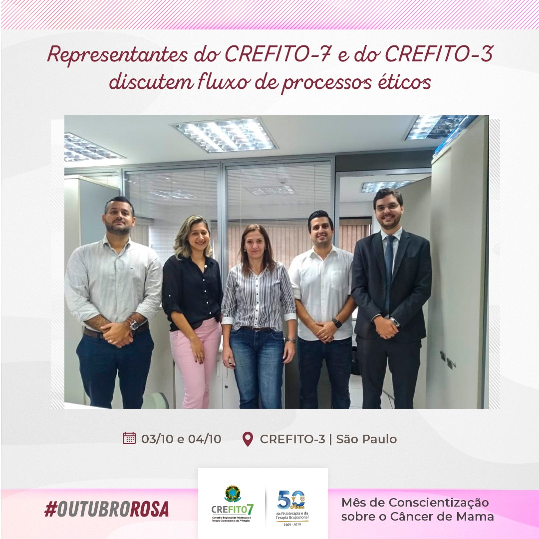 Representantes do CREFITO-7 e do CREFITO-3 discutem fluxo de processos éticos