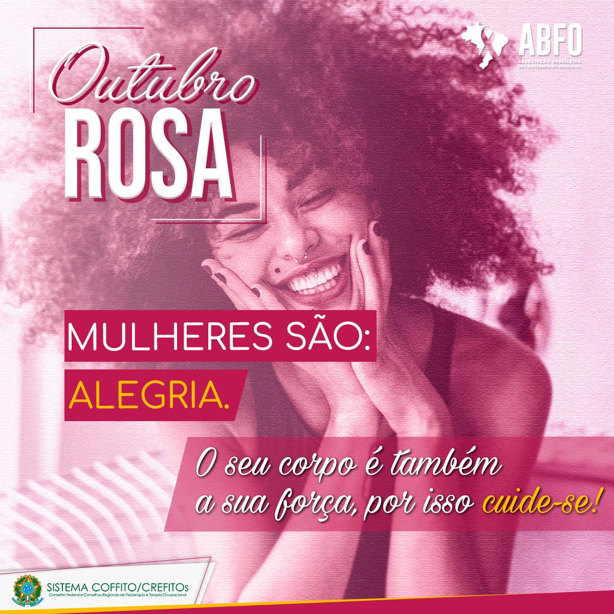 OUTUBRO ROSA - CAMPANHA DO SISTEMA COFFITO-CREFITOs