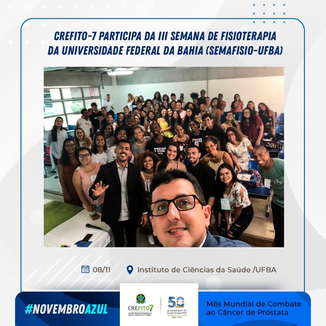 CREFITO-7 participa da III Semana da Fisioterapia da UFBA