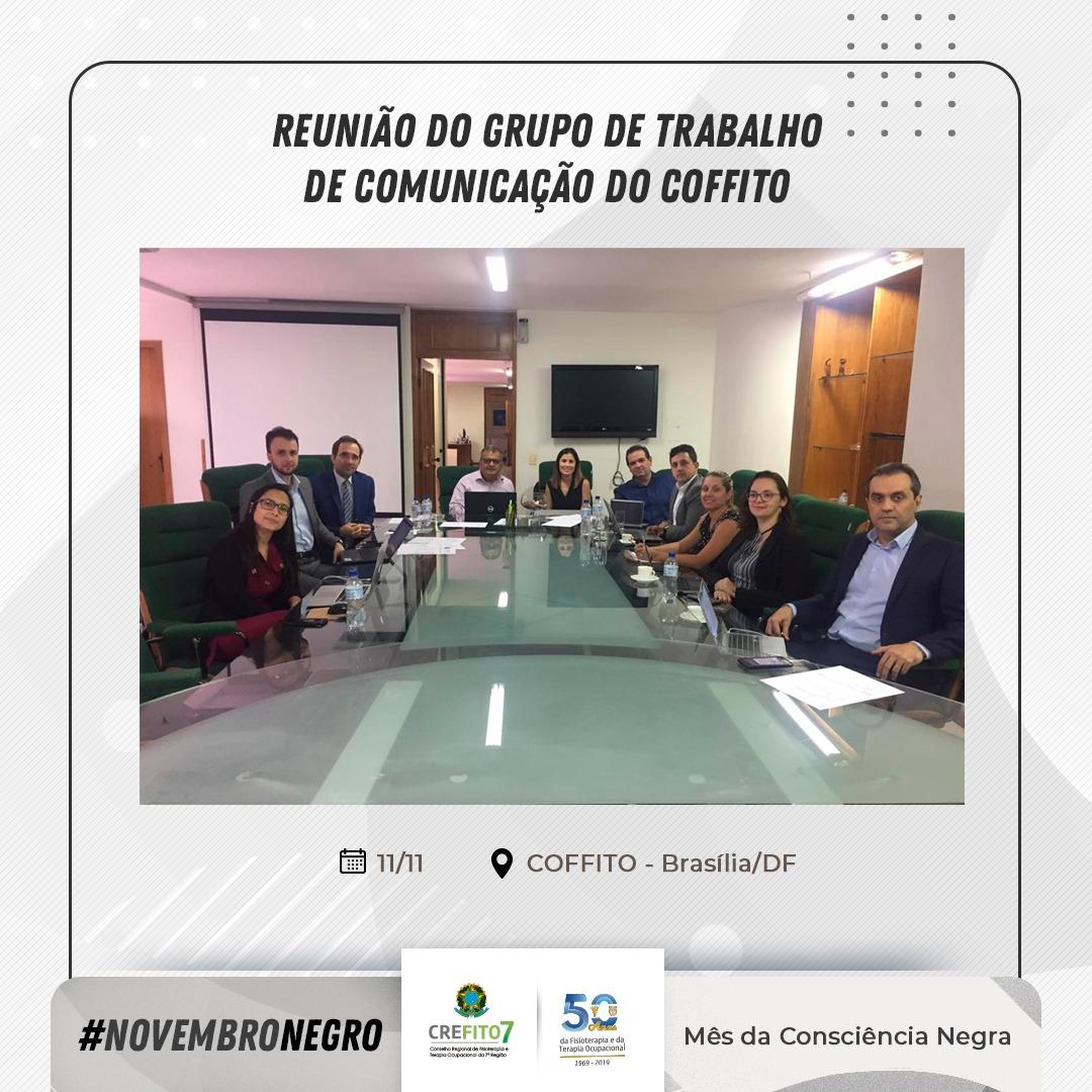 Reunião do Grupo de Trabalho de Comunicação do COFFITO