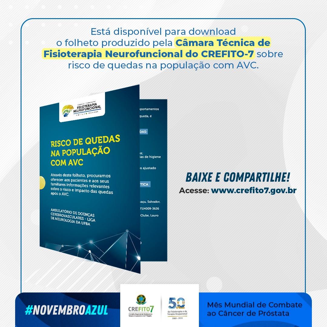 Confira o folheto produzido pela Câmara Técnica de Fisioterapia Neurofuncional do CREFITO-7!