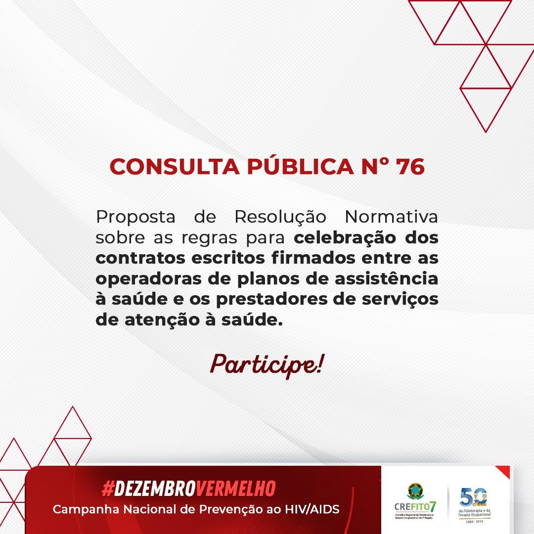 Consulta Pública nº 76 da ANS