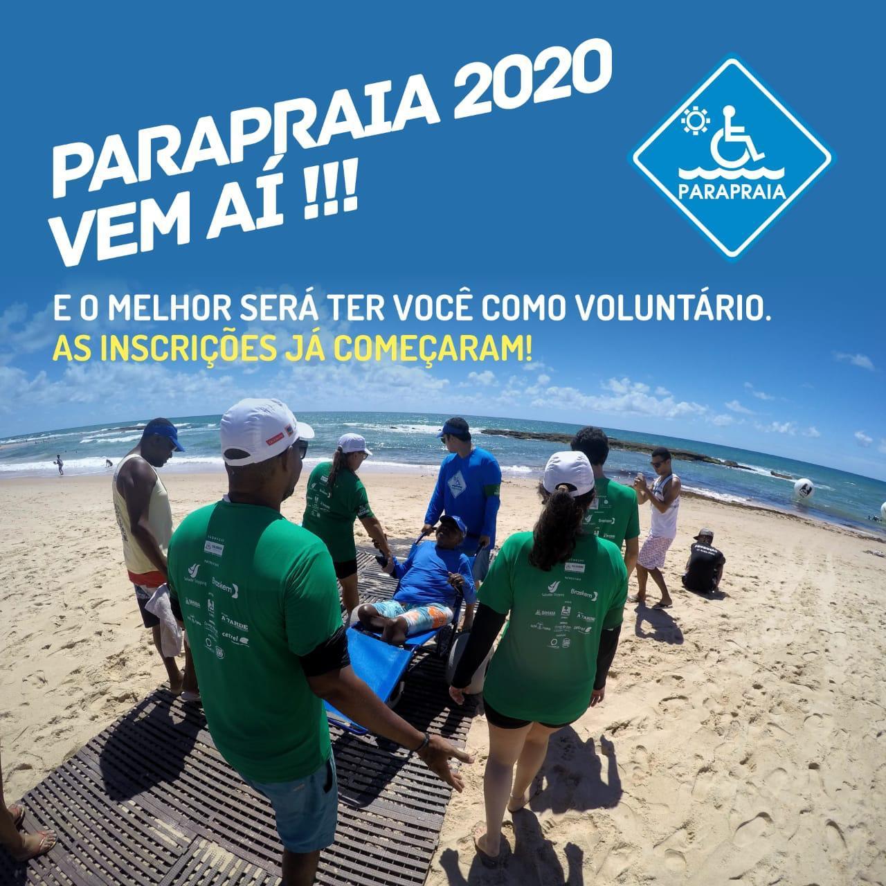 Participe do Projeto ParaPraia! Inscrições abertas!