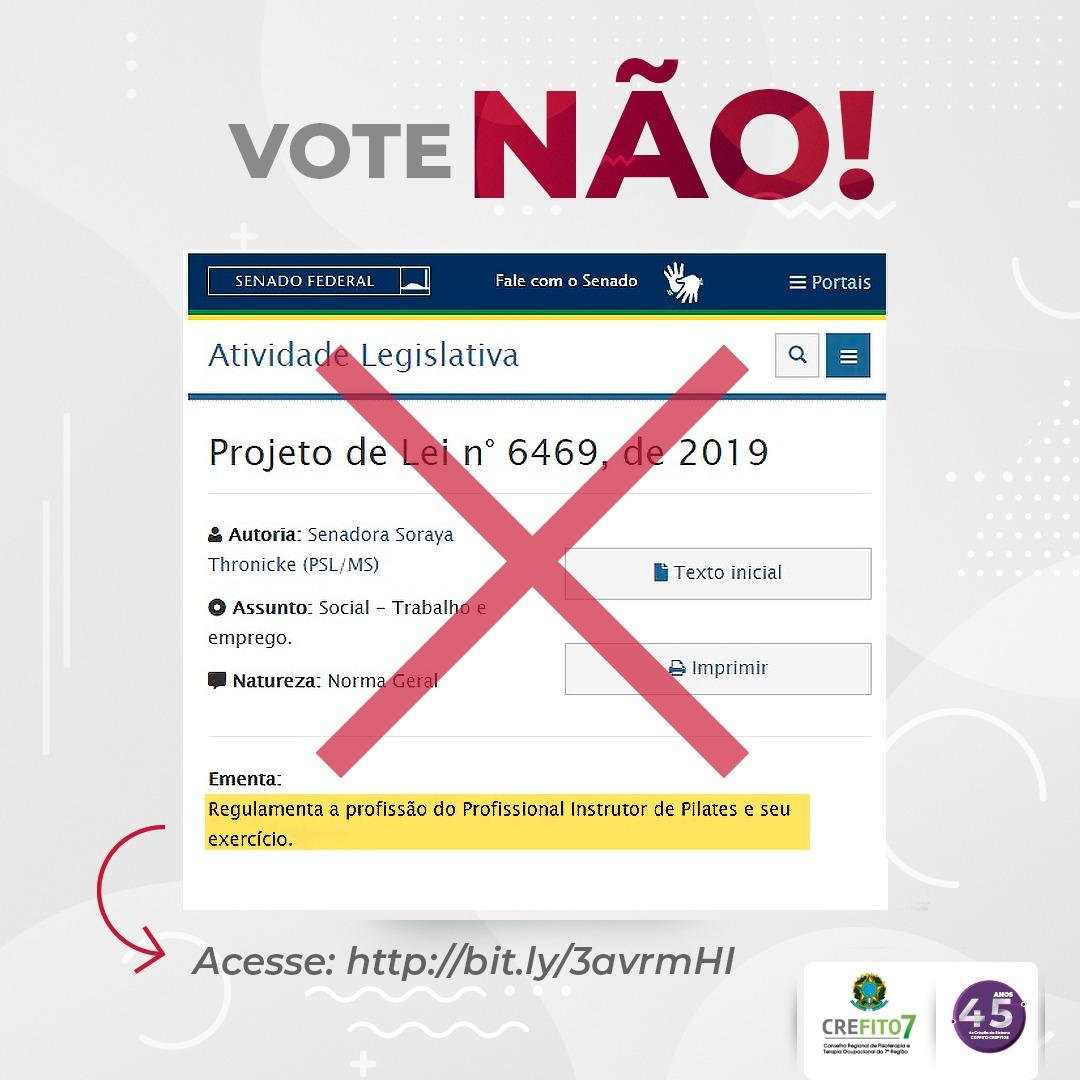 Vote contra o Projeto de Lei nº 6469/2019!